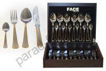"Набор столовых предметов Face ""Falperra Gold"" 24 предмета на 6 персон"