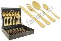 """Набор столовых предметов Face """"Antique Titanium Gold"""" 24 предмета на 6 персон"""