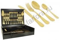 """Набор столовых предметов Face """"Antique Titanium Gold"""" 75 предметов на 12 персон"""