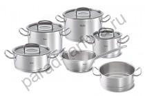 """Набор посуды Fissler """"Original pro collection"""" 5 предметов + пароварка (подарок)"""
