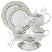 """Чайный сервиз на 6 персон Emerald """"Романтика"""" 21 предмет"""