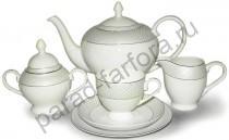 """Чайный сервиз на 6 персон Emerald """"Элеганс"""" 21 предмет"""