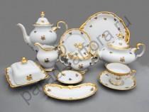 """Чайный сервиз Weimar Porzellan """"Роза золотая"""" 55 предметов 12 персон"""