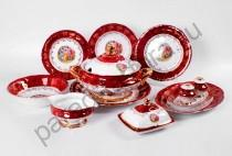 """Столовый сервиз Bavarian Porcelain """"Мадонна красная"""" 27 предметов"""