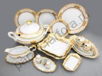 """Столовый сервиз Weimar Porzellan """"Симфония золотая"""" 49 предметов на 12 персон"""