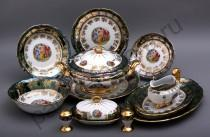 """Столовый сервиз Bavarian Porcelain """"Мадонна зеленая"""" 27 предметов"""