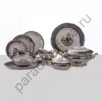 """Столовый сервиз Bavarian Porcelain """"Охота зеленая"""" 27 предметов"""