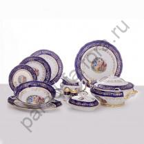 """Столовый сервиз Bavarian Porcelain """"Мадонна кобальт"""" 27 предметов"""
