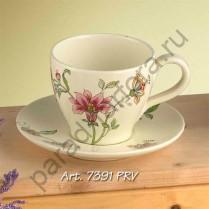 """""""Прованс"""" Чашка чайная с блюдцем 13см"""
