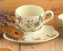 """""""Прованс"""" Набор для завтрака: чашка + тарелка 24см"""