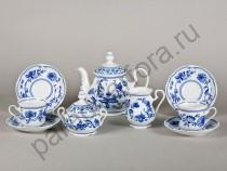 """Чайный сервиз на 6 персон Мэри-Энн """"Луковый рисунок"""" 15 предметов"""