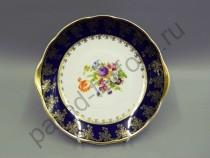 """Сервиз для торта (тарелки десертные 19см) Мэри-Энн """"Кобальт Мелкие цветы"""" 7 предметов"""