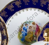 """Набор тарелок Мэри-Энн """"Мадонна перламутр"""" 25см подстановочных"""