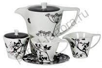 """Чайный сервиз Royal Fine China """"Неверланд черный"""" 17 предметов"""