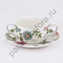 """Чашка для супа с блюдцем Royal Fine China """"Прованс"""" (1шт)"""
