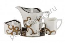 """Чайный сервиз Royal Bone China """"Гальяни"""" 17 предметов"""
