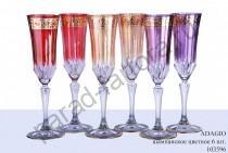 """Бокал для шампанского Precious (Пречиус) """"Adagio"""" цветной (6шт)"""