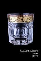 "Бокал для виски Precious (Пречиус) ""Columbia"" золото (6шт)"