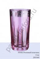 """Бокал для воды, соков Precious (Пречиус) """"Pink"""" платина (6шт)"""