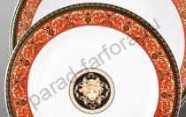 """Набор тарелок Сабина """"Версаче красная лента"""" 19см десертных"""