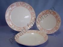"""Набор тарелок на 6 персон Takito """"Болеро"""" 18 предметов"""
