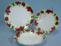 """Набор тарелок на 6 персон Takito """"Клубника"""" 18 предметов"""