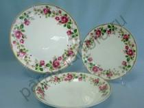 "Набор тарелок на 6 персон Takito ""Роза чайная"" 18 предметов"