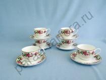 "Чайная пара на 6 персон Takito ""Роза чайная"" 12 предметов"
